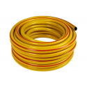Шланг поливочный ПВХ усиленный, пищевой трехслойный армированный 3/4, 25 м (жёлтый) Вихрь