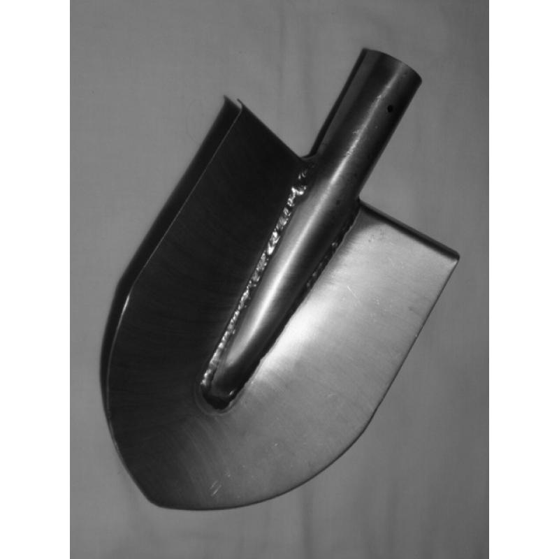 Лопата титановая большая штыковая сварная усиленная самозатачивающееся лезвие