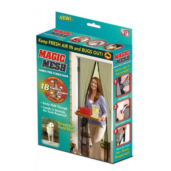 Москитная сетка на магнитах Magic Mesh (Buzz Off)