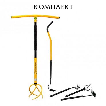 Культиватор + Садовый набор мини 4 инструмента Торнадика (Торнадо)